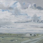 The Road Ahead, (Shepherds Hut), Khovd Mongolia - Oil on Canvas 61x61cm - Sold