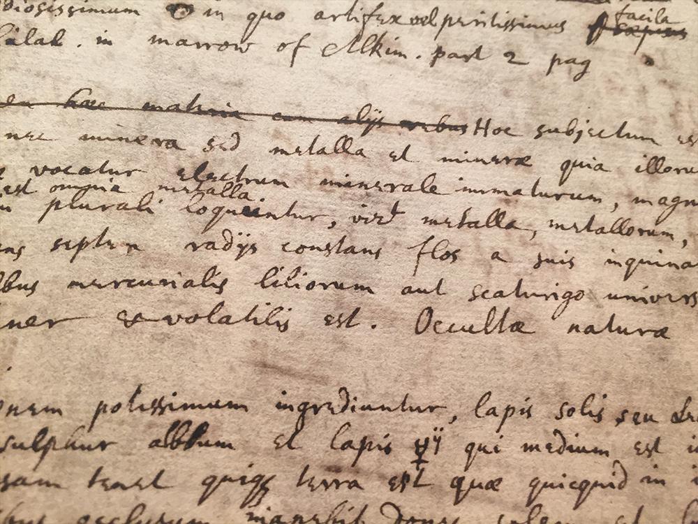 Newton's Occult Studies